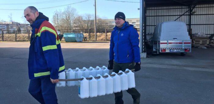 RPR toimetas koostöös Päästeametiga saajateni 11 tonni desinfitseerimisvahendeid